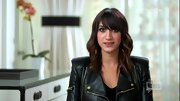 Mandana Dayani looked sleek and stylish on 'The Rachel Zoe Project' when she sported a black leather jacket with gold zipper detailing.