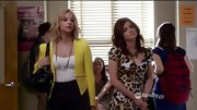 Ashley Benson was a ray of sunshine in a canary yellow zippered blazer on 'Pretty Little Liars.'