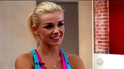 Katherine Jenkins' delicate sterling necklace was a feminine addition to her bright workout gear.