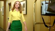 Jayma Mays was a ray of sunshine in a darling lemon yellow cardigan layered over a matching button-down.