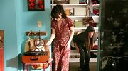 Of course Zooey Deschanel would wear dotted pajamas as cute as her arsenal of retro dresses.