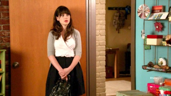 Zooey Deschanel Knee Length Skirt