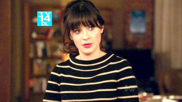 Zooey Deschanel Boatneck Sweater