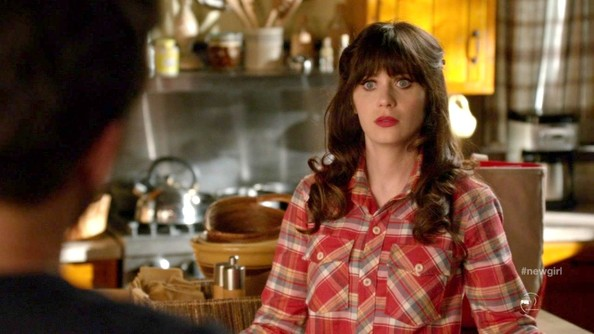 Zooey Deschanel Button Down Shirt