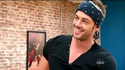 William Levy looked every part the rocker in this navy bandana.
