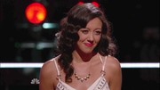 Amy selected this silver and gold necklace to complete her outfit for a battle on 'The Voice'.