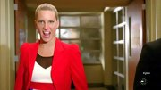 Heather Morris cast aside her cheerleading uniform on 'Glee' for this bright red blazer.