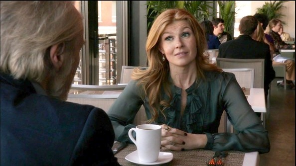 More Pics of Connie Britton Ruffle Blouse (1 of 5) - Ruffle Blouse Lookbook - StyleBistro