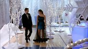 Jenna Ushkowitz's blue-and-black sheer overlay gown on Glee made her the star of the dance.