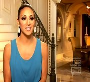This shade of turquoise seriously pops against Melissa Gorga's olive complexion.