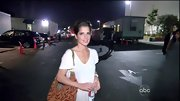 Kelly Monaco's leaf-embroidered bag was an earthy addition to her rehearsal style.