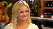 Emily Maynard's art deco-inspired mirrored drop hoops were almost as brilliant as her impossibly pearly whites.