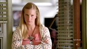 Heather Morris chose a loose-knit crocheted cardigan for her look on 'Glee.'
