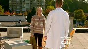 Mamie Gummer had a festive vibe on 'Emily Owens, M.D.' in a cozy Fair Isle reindeer sweater.