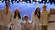 Jenna Ushkowitz wowed in winter whites on 'Glee' in this cozy sweater dress.