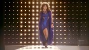 Jenna Ushkowitz rocked a revealing evening gown on 'Glee.'