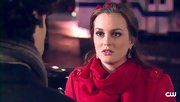 Leighton Meester did red on red in this scarf and coat combo.