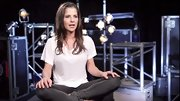 Kelly Monaco had a downtown vibe in a loose T-shirt and skinny charcoal jeans on 'DWTS.'