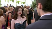 Michelle Trachtenberg drew focus to her decolletage with a unique old statement necklace.