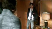 Connor Paolo gave his preppy uniform a rebellious edge with an undone tie and untucked shirt.