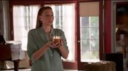 Stacey Oristano complemented her auburn tresses with a sage green button-down on 'Bunheads.'