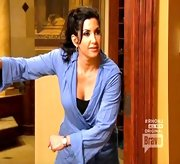A lilac robe kept Jacqueline Laurita's sleepwear appropriate for TV.