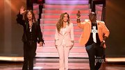 In case you thought pale pink pantsuits were reserved for The 'Golden Girls,' Jennifer Lopez would like a word with you. For the American Idol semi-final results show, JLo looked rather sophisticated in a fitted blazer and coordinating trousers.
