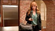 Connie Britton chose a forest green jacquard blazer for her look on 'Nashville.'