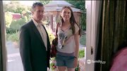 Sutton Foster had a bit of a hippie vibe on 'Bunheads' in a whimsical wolf T-shirt.