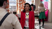Freema Agyeman wore a structured red blazer while helping AnnaSophia Rob survive NYC on 'The Carrie Diaries.'