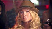 Hayden Panettiere tamed her full curls with a straw fedora.