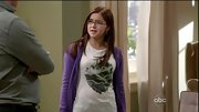 Ariel Winter wore this graphic tee under a purple cardigan for a casual look.