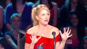Christina Applegate was radiant on 'So You Think You Can Dance' in a red off-the-shoulder dress.