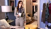 Leighton Meester kept it professional on 'Gossip Girl' in a stylish tweed pant suit.