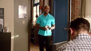 Lamorne Morris chose a teal polo for his preppy but casual look on 'New Girl.'