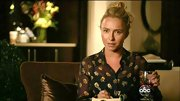 Hayden Panettiere's floral print blouse was feminine but had a bit of an edge with the see-through material.