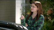 Ariel Winter's green plaid button-down was the perfect color choice for her warm brown locks.