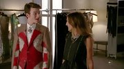 Chris Colfer was more than a little eclectic on 'Glee' in this tweed, globe-print suit.