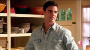 Colin Egglesfield chose a light-wash denim shirt for his relaxed but stylish look on 'The Client List.'