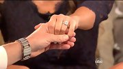 Catherine Giudici shows off her diamond engagement ring in the final episode of season 17 of The Bachelor.