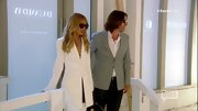 Rachel Zoe kept her look sleek and modern with this long white blazer.