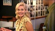 It doesn't get much girlier than the yellow butterfly print blouse Clare Bowen wore on 'Nashville.'