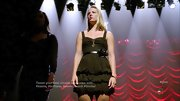 Heather Morris' tiered black dress was made especially sweet with the addition of a rosette belt.