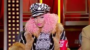 Nicki Minaj rocked neon pink lips during 'American Idol' auditions.